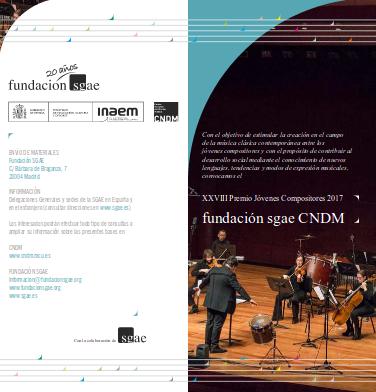 Toda la Música | Abierta la convocatoria del XXVIII Premio Jóvenes Compositores 2017