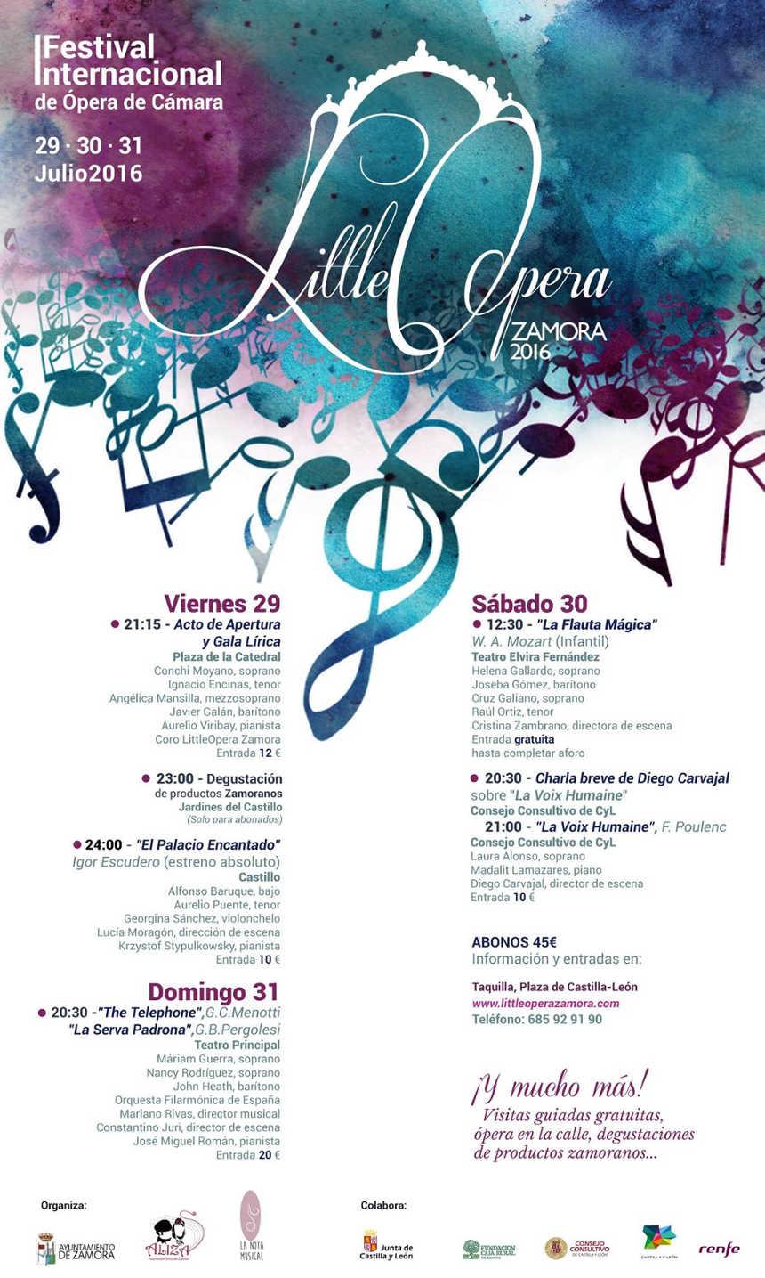 Toda la Música | II Festival Internacional de Ópera de Cámara   LittleOpera Zamora 2017