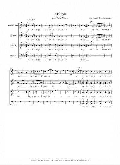 Toda la Música | Partitura para coro IV   Nivel de dificultad: medio