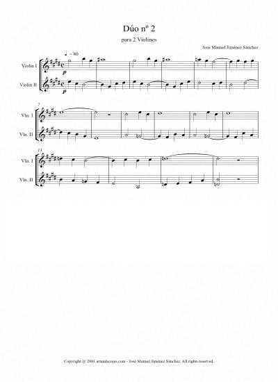 Toda la Música | Partitura para dúo de violín II   Nivel de dificultad: bajo