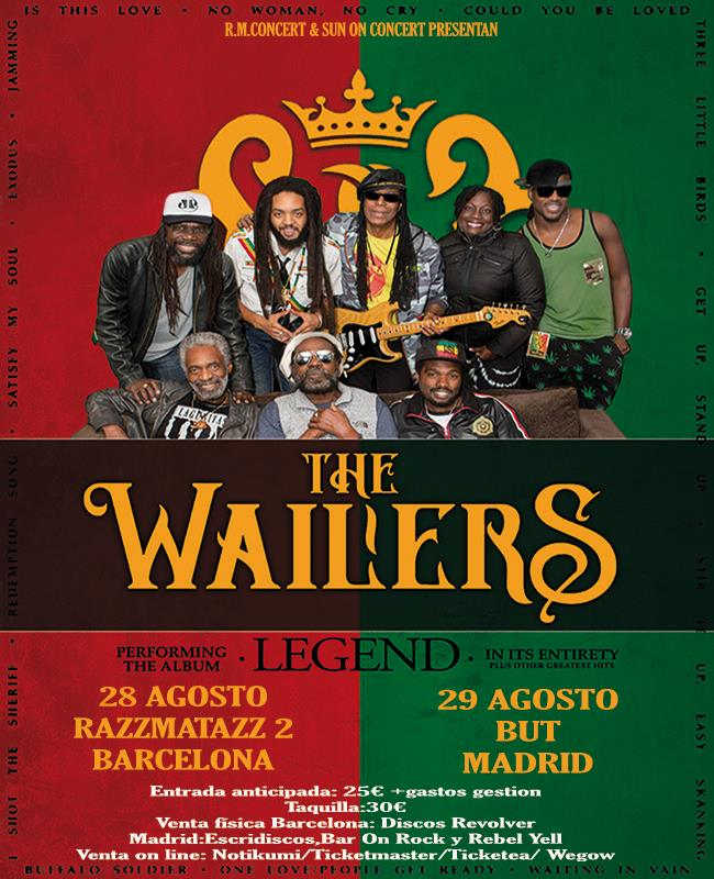 "Toda la Música | The Wailers   ""Legend Tour 2017"" en  Barcelona y Madrid"
