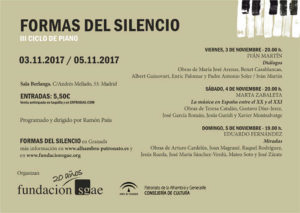 III Ciclo de piano Formas de Silencio en Madrid y Granada