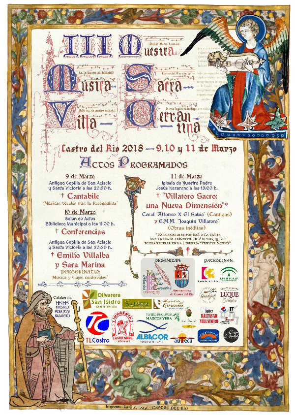 Toda la Música | La III Muestra de Música Sacra de Castro del Río recupera las Cantigas de Alfonso X