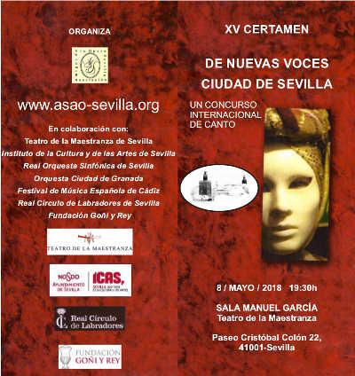 Escuela de Canto Clásico en Madrid   tripticoAsao 1 1 min min Megan Barrera, Laura del Río y Elvira Padrino ganan el Certamen de Sevilla