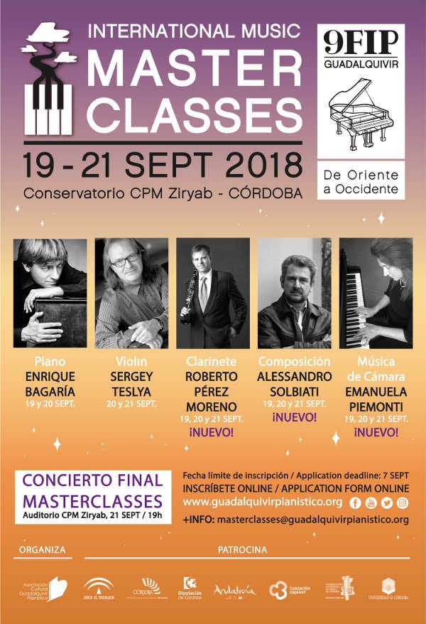 Toda la Música | Masterclasses en la 9º FIP Guadalquivir 2018
