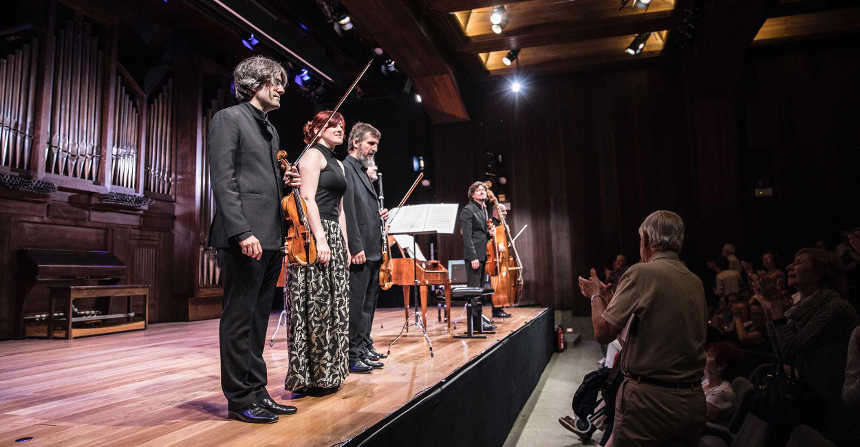 Toda la Música | La Tempestad, en la Fundación Juan March interpretando tres cuartetos para teclado, flauta y viola