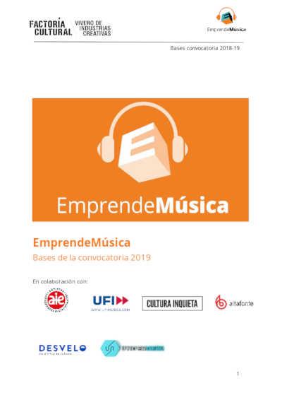 Toda la Música | La Factoría Cultural, vivero de industrias creativas, EmprendeMúsica