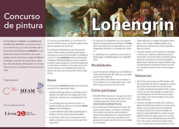 Toda la Música | Nuevo concurso internacional de pintura con motivo de la producción Lohengrin
