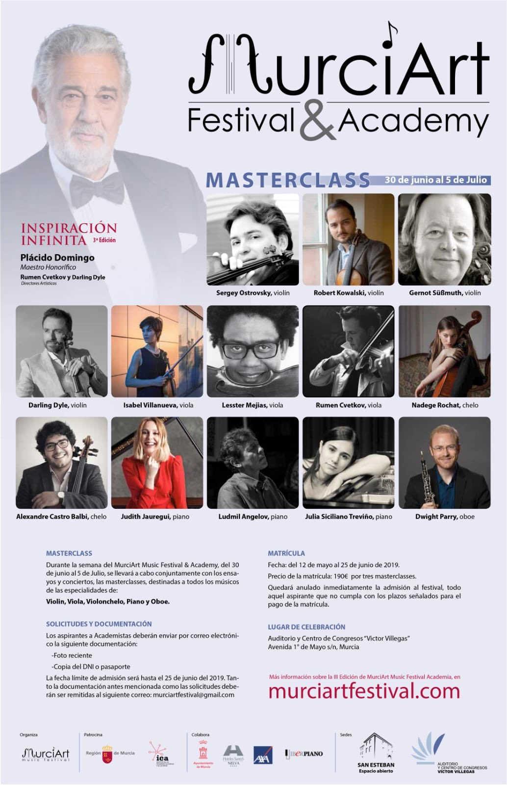 Toda la Música | El festival MurciArt organiza cinco conciertos gratuitos de música clásica