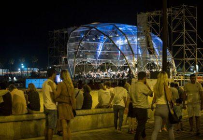 Toda la Música | El Palau de la Música ofrece conciertos de jazz, clásica y música de banda en la playa de Las Arenas
