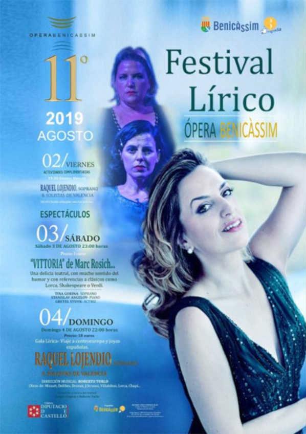 Toda la Música   La 11ª edición del Festival Lírico 'Ópera Benicàssim' vuelve del 2 al 4 de agosto