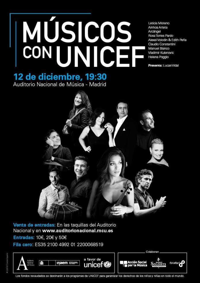 Toda la Música | Concierto solidario en favor de UNICEF con la participación de la violinista Leticia Moreno
