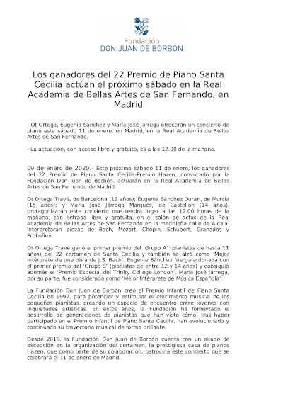 Toda la Música | Concierto ganadores del 22º Premio Santa Cecilia en Real Academia de Bellas Artes de San Fernando