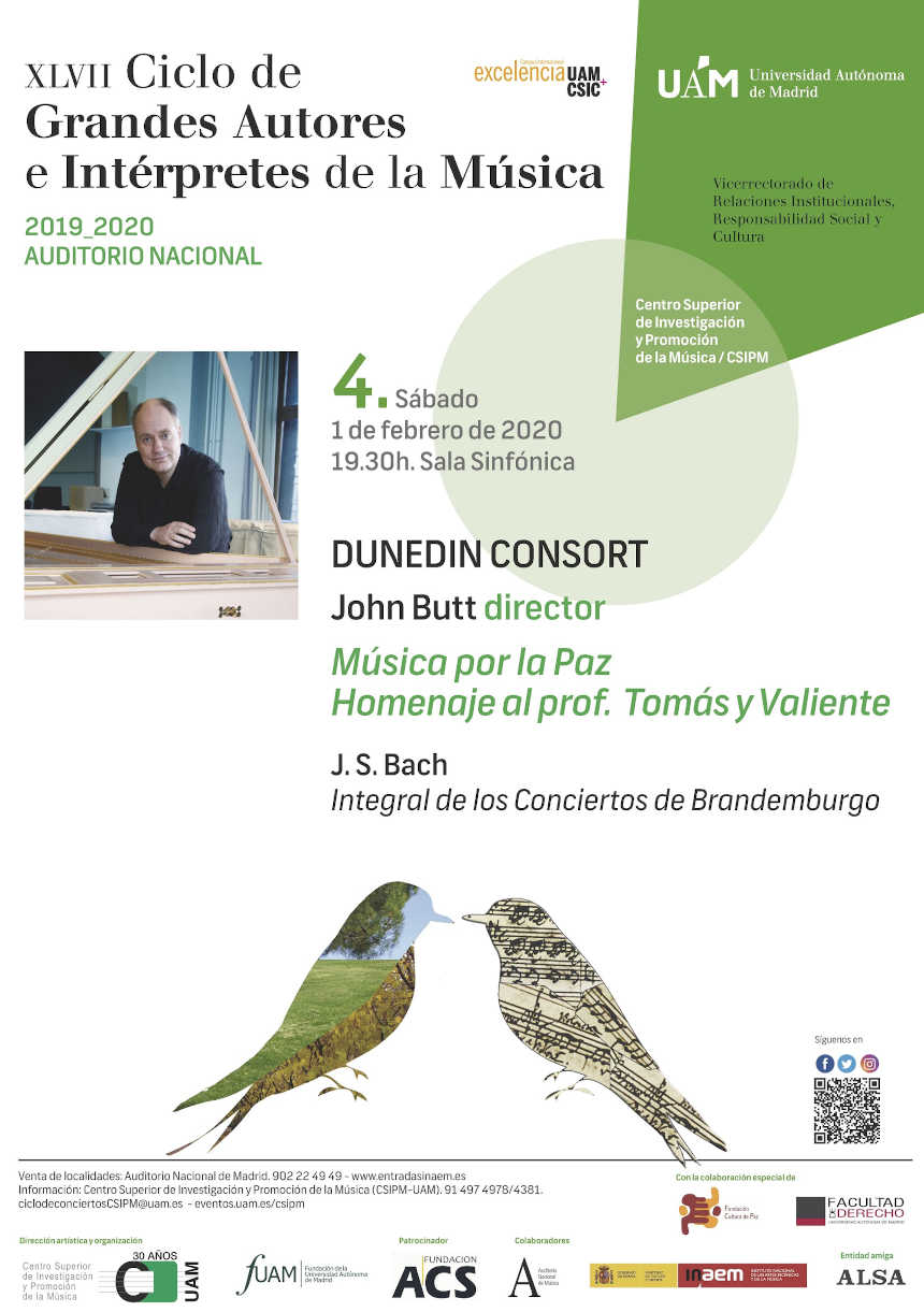 Toda la Música | Dunedin consort en el XLVII Ciclo Grandes Autores e Intérpretes de la Música de la UAM