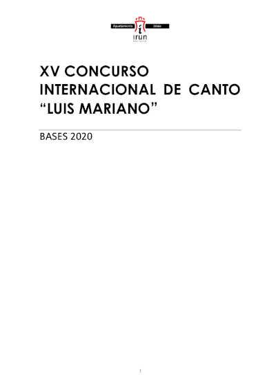 Toda la Música | Irún convoca el XV Concurso Internacional de Canto Luis Mariano