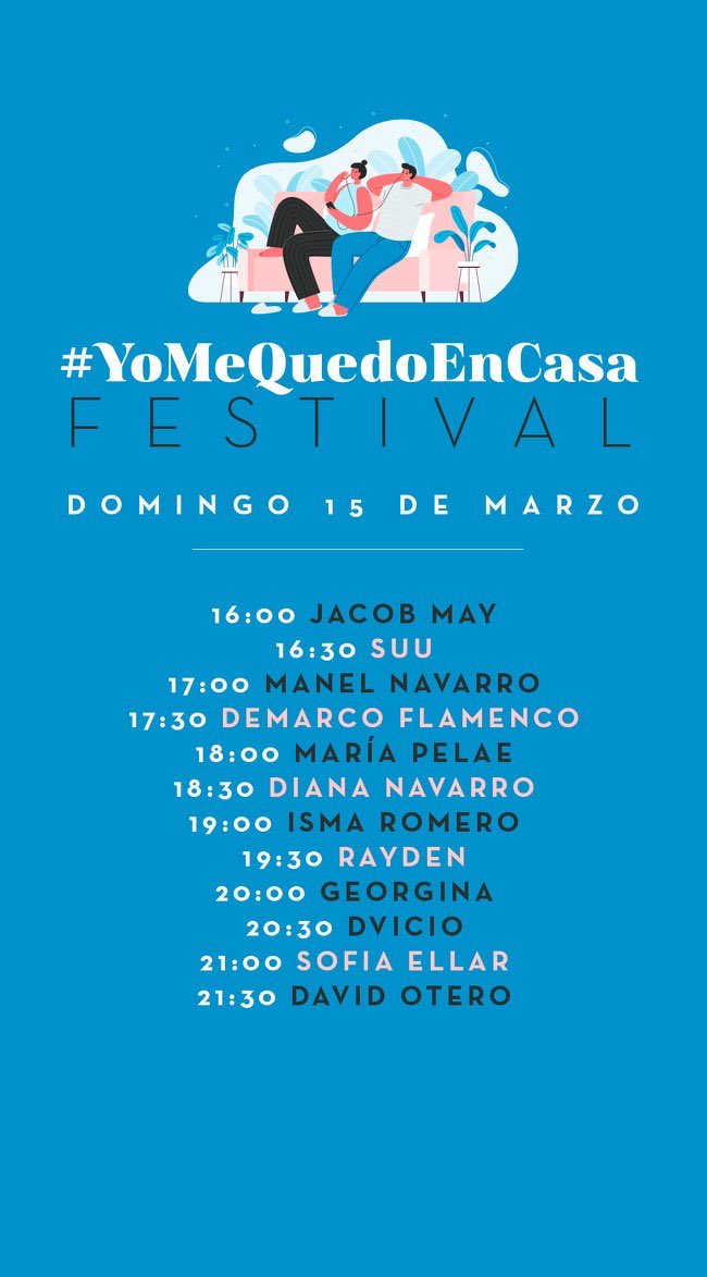 Toda la Música   Nace el #YoMeQuedoEnCasa Festival, la alternativa de Warner al confinamiento