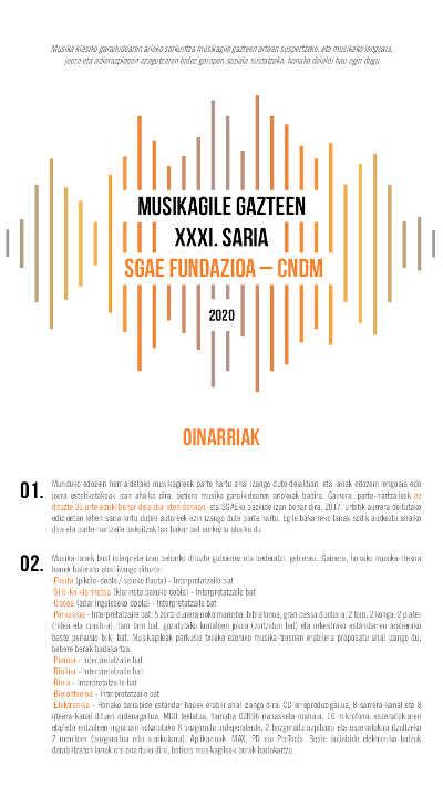 Toda la Música | Abierta la convocatoria del XXXI Premio Jóvenes Compositores Fundación SGAE CNDM 2020
