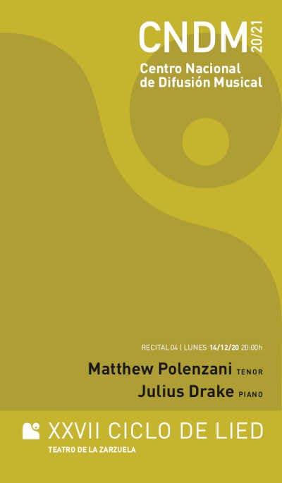 Toda la Música | Matthew Polenzani debuta en el Ciclo de Lied del CNDM y el Teatro de la Zarzuela