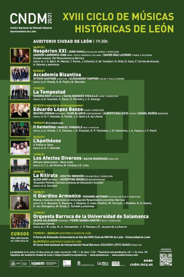 Toda la Música | El CNDM y el Ayuntamiento de León presentan nueva edición del ciclo Músicas Históricas de León