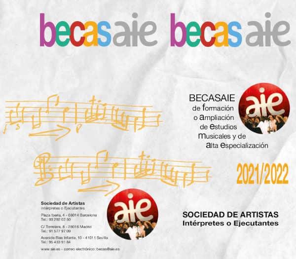 Toda la Música   Abierta nueva convocatoria de BECASAIE de Estudios Musicales para el curso 2021/2022