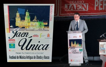 """Premio 'Jaén Única' al """"Fomento de la cultura"""" para el Festival de Música Antigua de Úbeda y Baeza (FeMAUB)"""