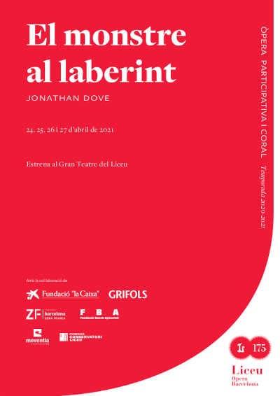 Toda la Música | El Liceu estrena la ópera El monstre al laberint con puesta en escena de Paco Azorín