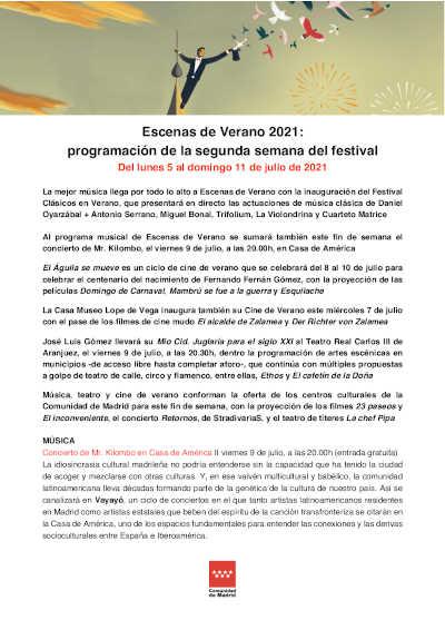 Toda la Música | Escenas de Verano 2021 muestra su programación de la segunda semana del festival